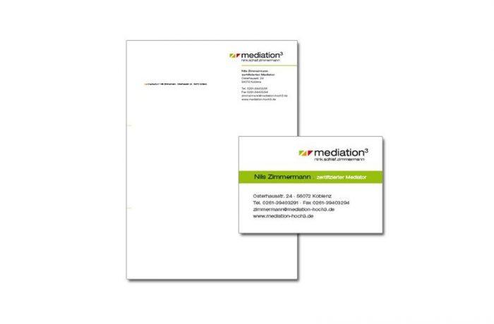Geschäftspapiere: mediation³