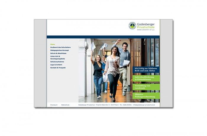 Webseite: Godesberger Privatschule